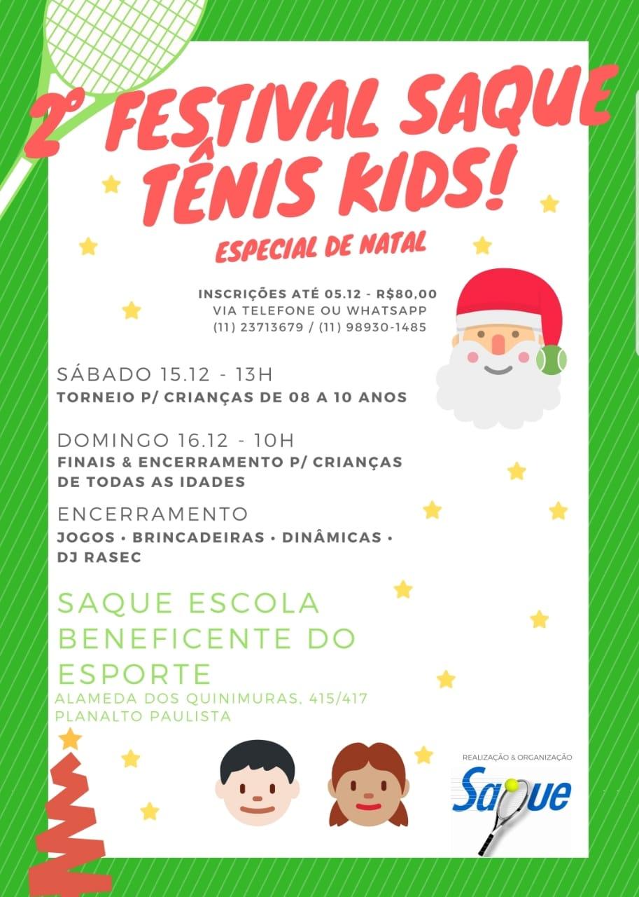 2º Festival Saque Tênis Kids